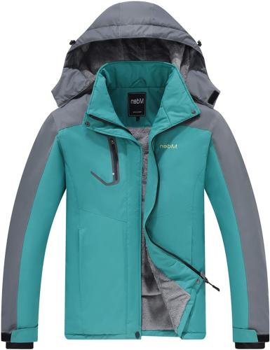 Mden Men's Mountain Waterproof Ski Jacket Windproof Rain Jac