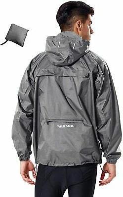 BALEAF Men's Rain Jacket Waterproof with Hooded Lightweight