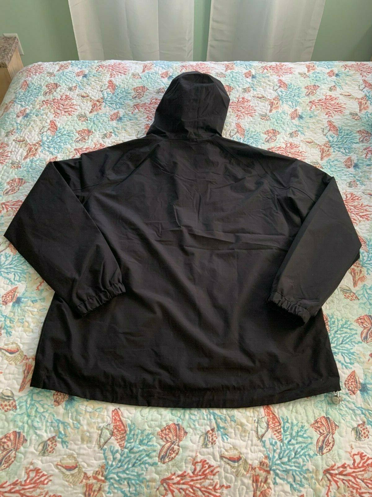 Timberland Hooded Rain Jacket Black XL $138