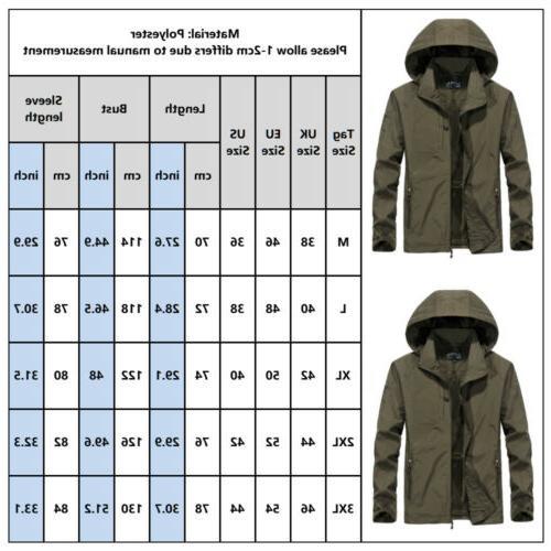 Men's Waterproof Windbreaker Jacket Rain