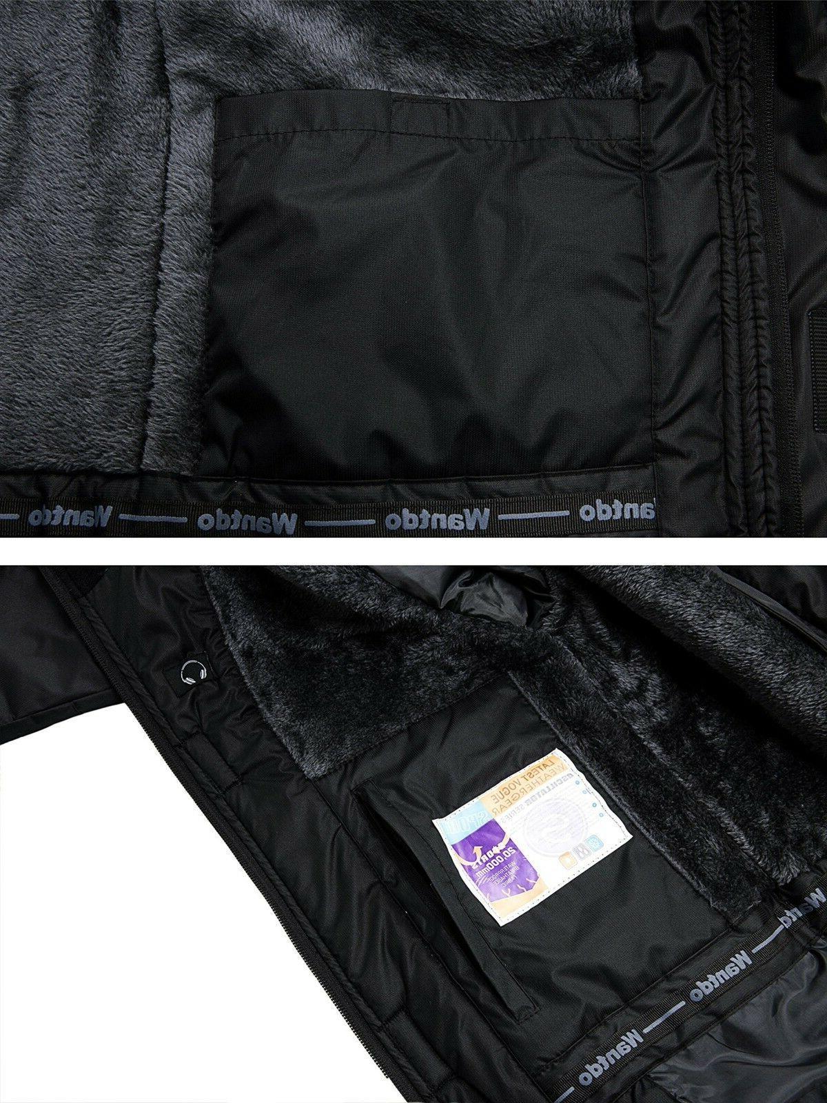 Wantdo Jacket Fleece Windproof Ski Jacket M Black M