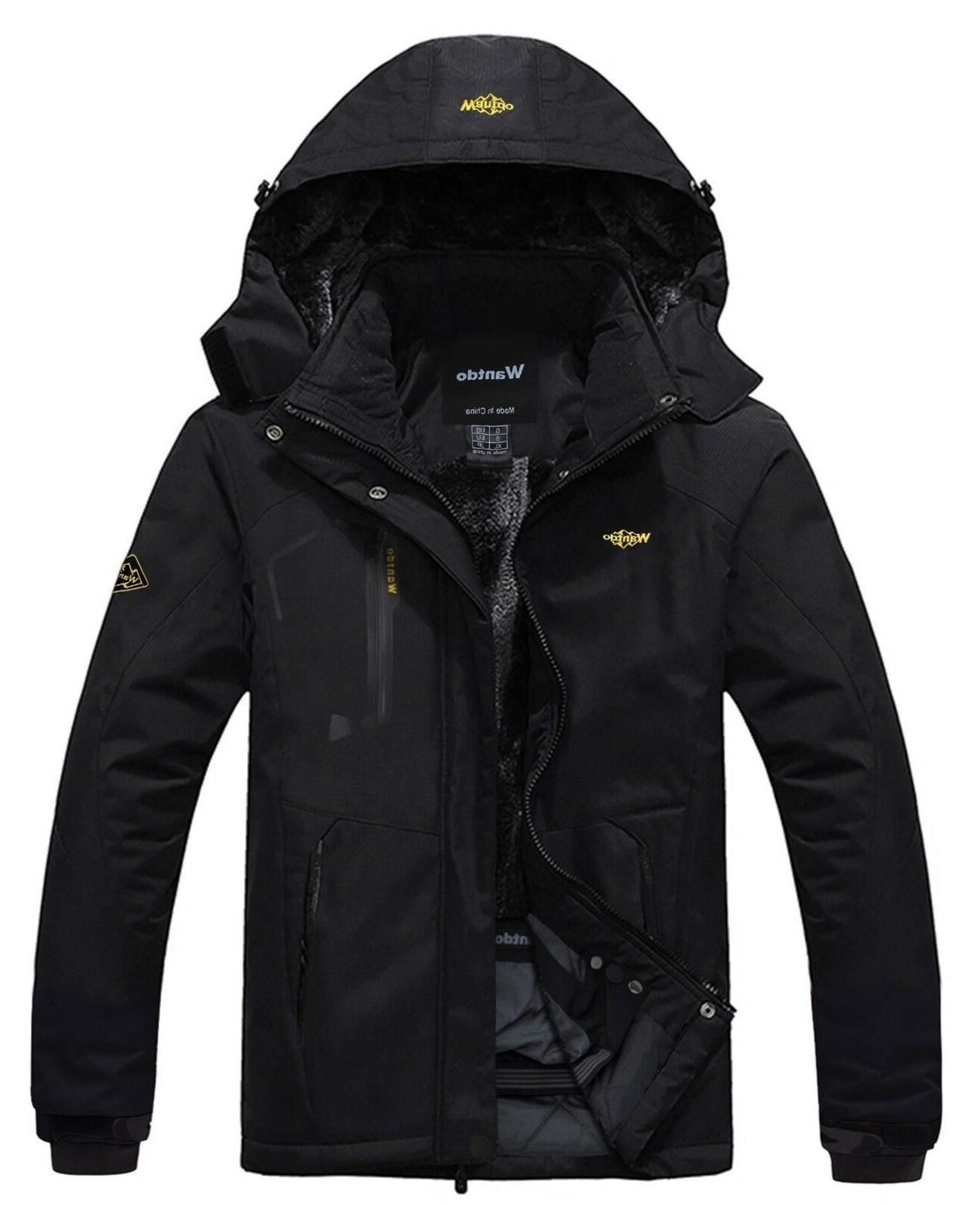 men s waterproof mountain jacket fleece windproof