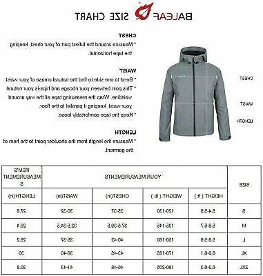 BALEAF Rain Jacket Lightweight Hooded for