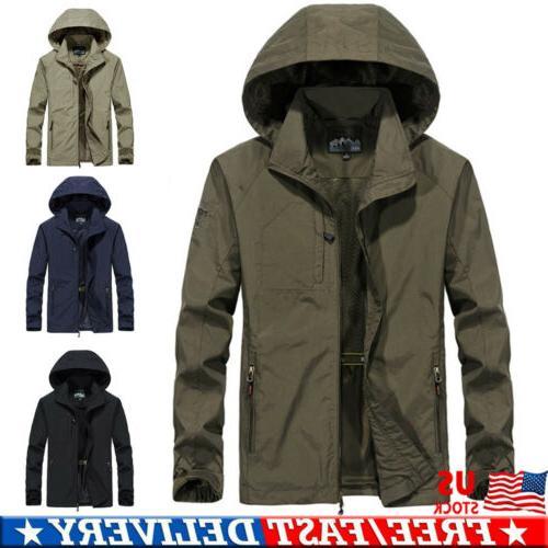 men s waterproof windbreaker hooded jacket breathable