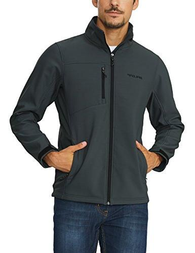 Baleaf Outdoor Softshell Jacket Lined Gray Size