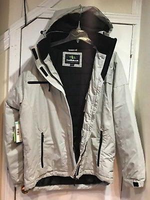 NordicTrack Men's Outerwear Rain Work hood Coat