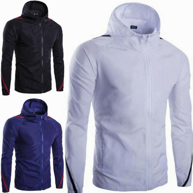 Men Hoodie Coat Jacket Sleeve Tops Outwear