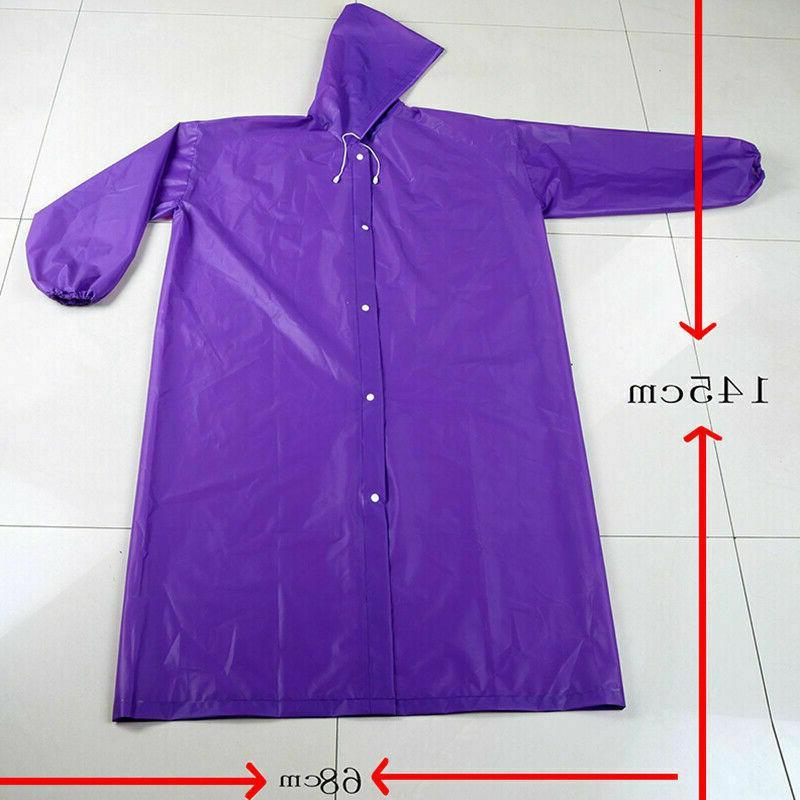 Men Women Raincoat Coat Waterproof Jacket Rainwear,