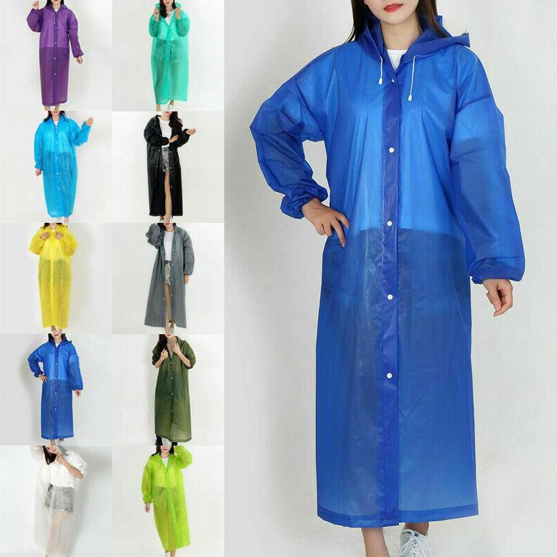 men women raincoat rain coat gown hooded