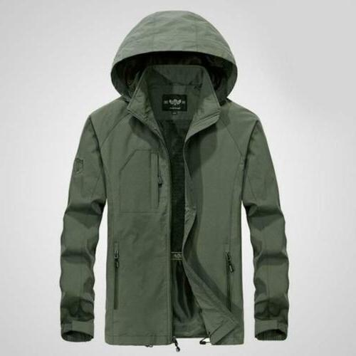 Mens 2019 Jacket Waterproof Hooded Outdoor Outwear