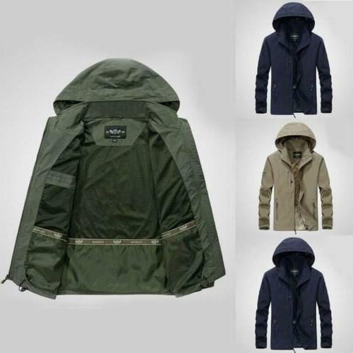 mens 2019 jacket waterproof hooded outdoor camping