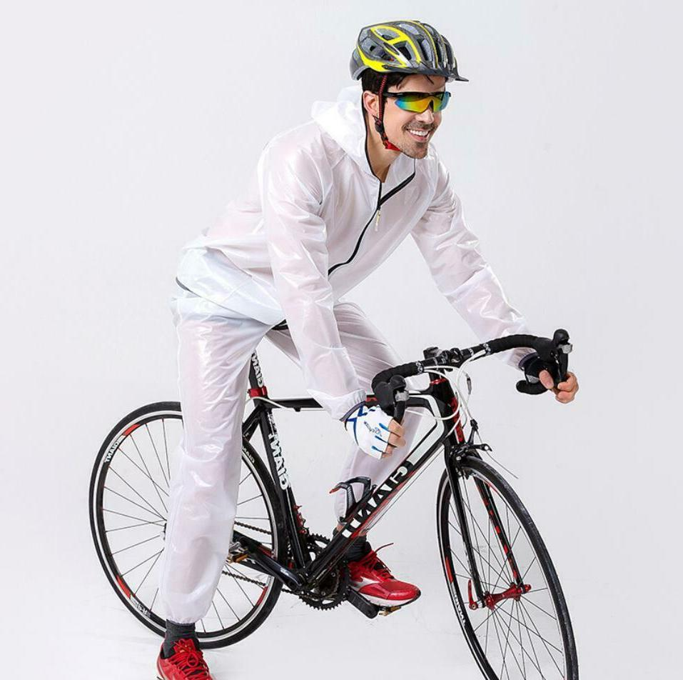 Mens Bike Raincoat Waterproof Rain MTB Bicycle