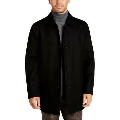 mens black reversible wool rain car coat