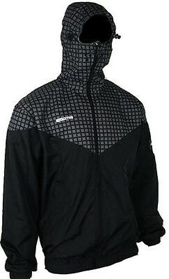 Instigator Mens Boys Black Bomber Rain Jacket Hooded Windbre