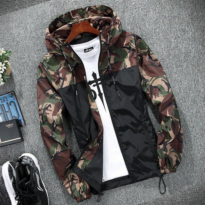 Men Windproof Jacket Rain Coat Festival Outdoor Hoodies Ligh