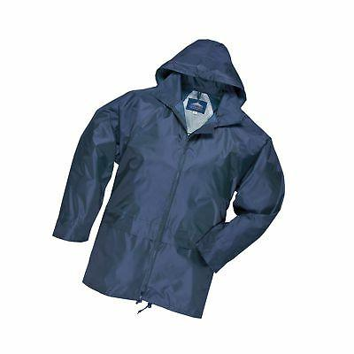 Portwest Mens Classic Rain Jacket  Navy M