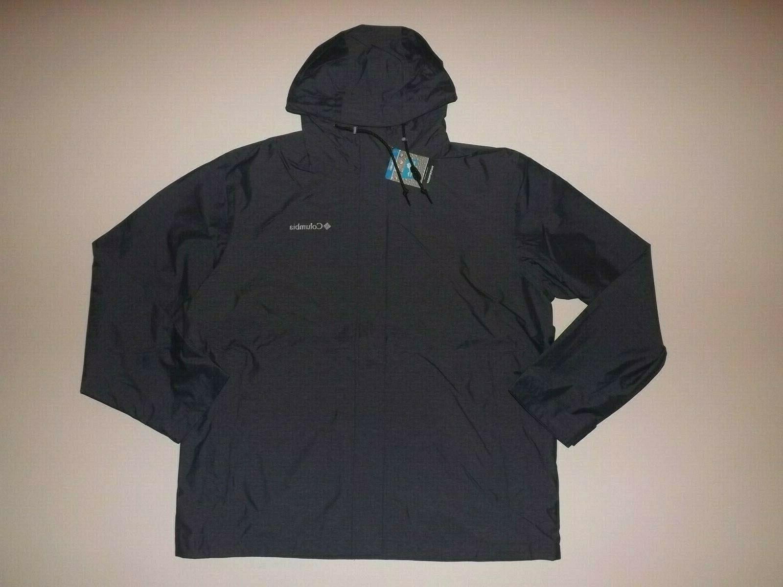 mens colligate navy blue heather rain jacket