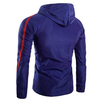 Mens Full Zip Up Rain Windproof Outerwear Hiking