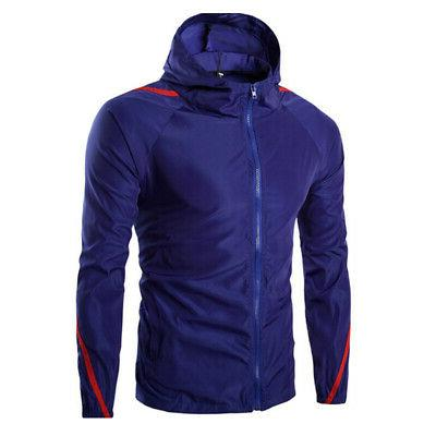 mens jacket full zip up rain windproof