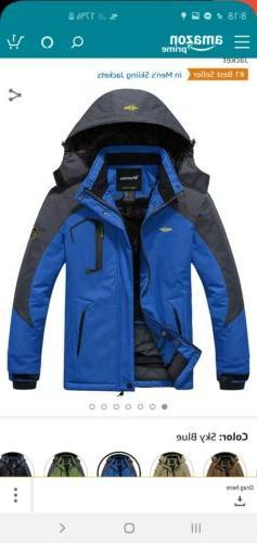 Wantdo Mens Mountain Waterproof Ski Jacket Windproof Rain Ja