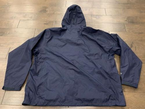 Columbia Navy Timber Pointe Waterproof Hooded Jacket Size NWT