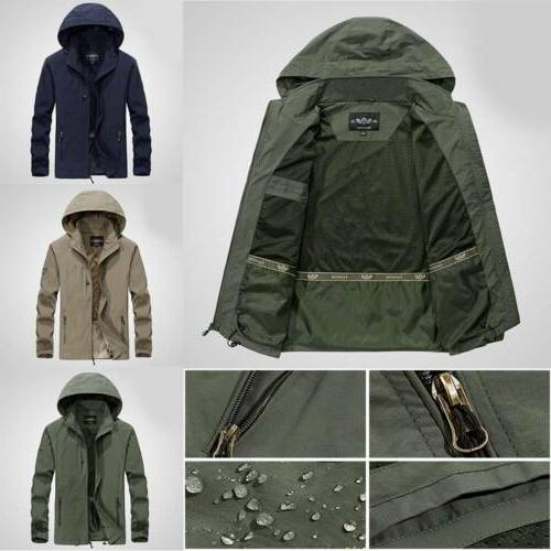 Men's Waterproof Hooded Outdoor Rain