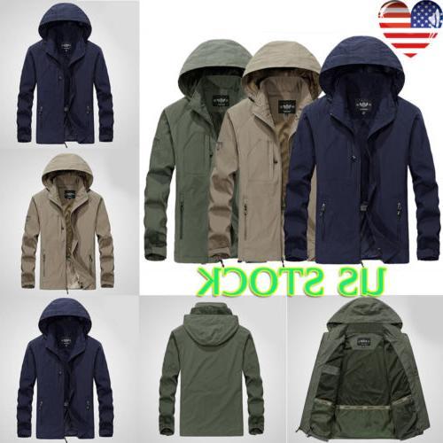 mens outdoor sport rain coat jacket full