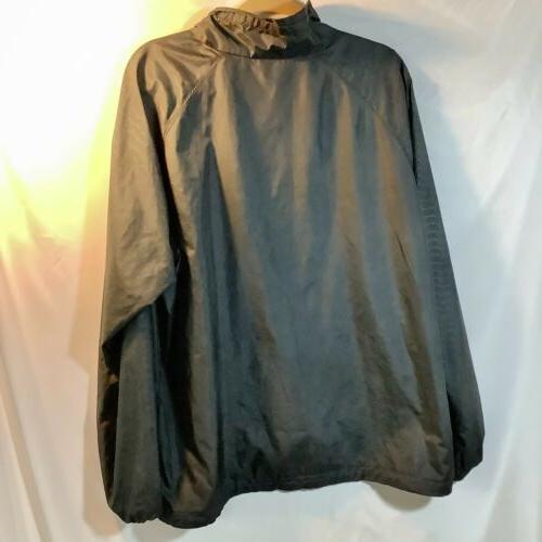 Men's Columbia Black Full Zip Rain Windbreaker Jacket Size