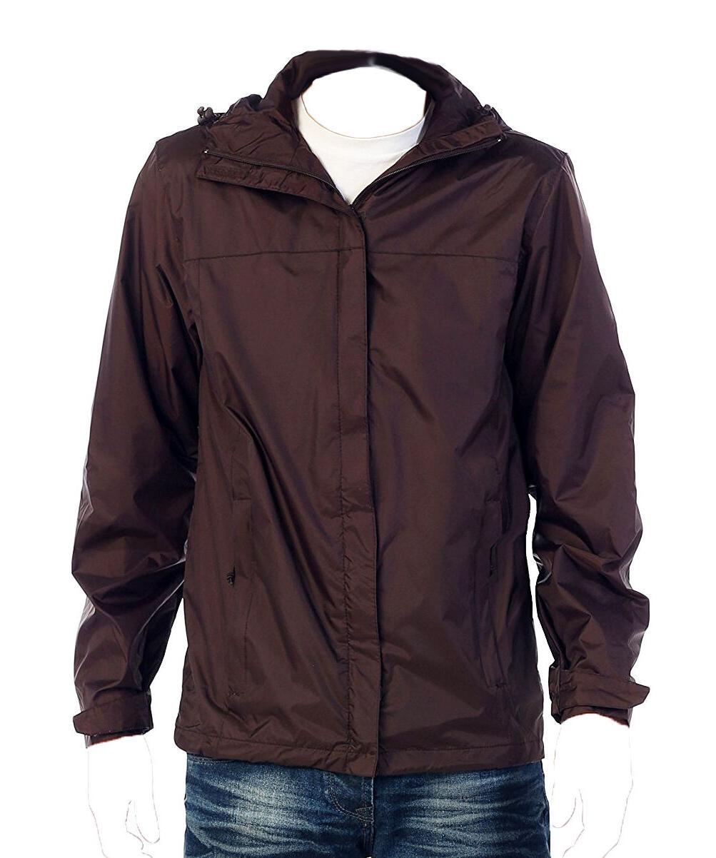 mens waterproof rain jacket brown xxl