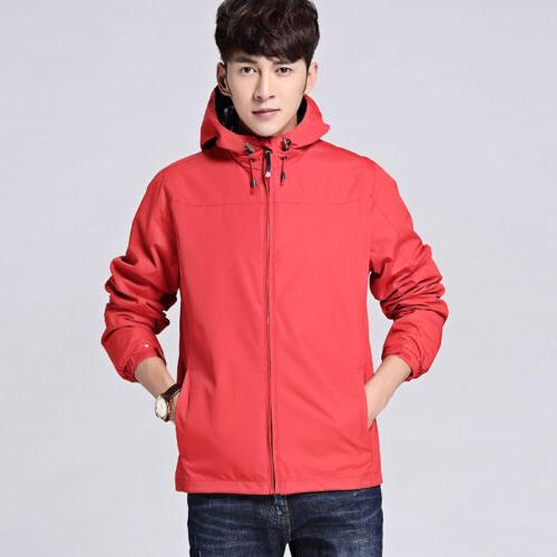 Mens Jacket Rainwear Coat Outerwear