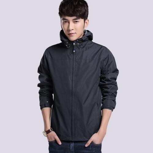 Mens Waterproof Jacket Rainwear Coat