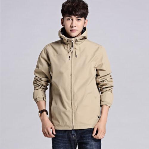 Mens Waterproof Windproof Outdoor Jacket Rain Coat Outerwear