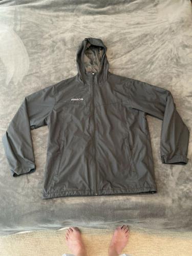 mens windbreaker rain jacket large new