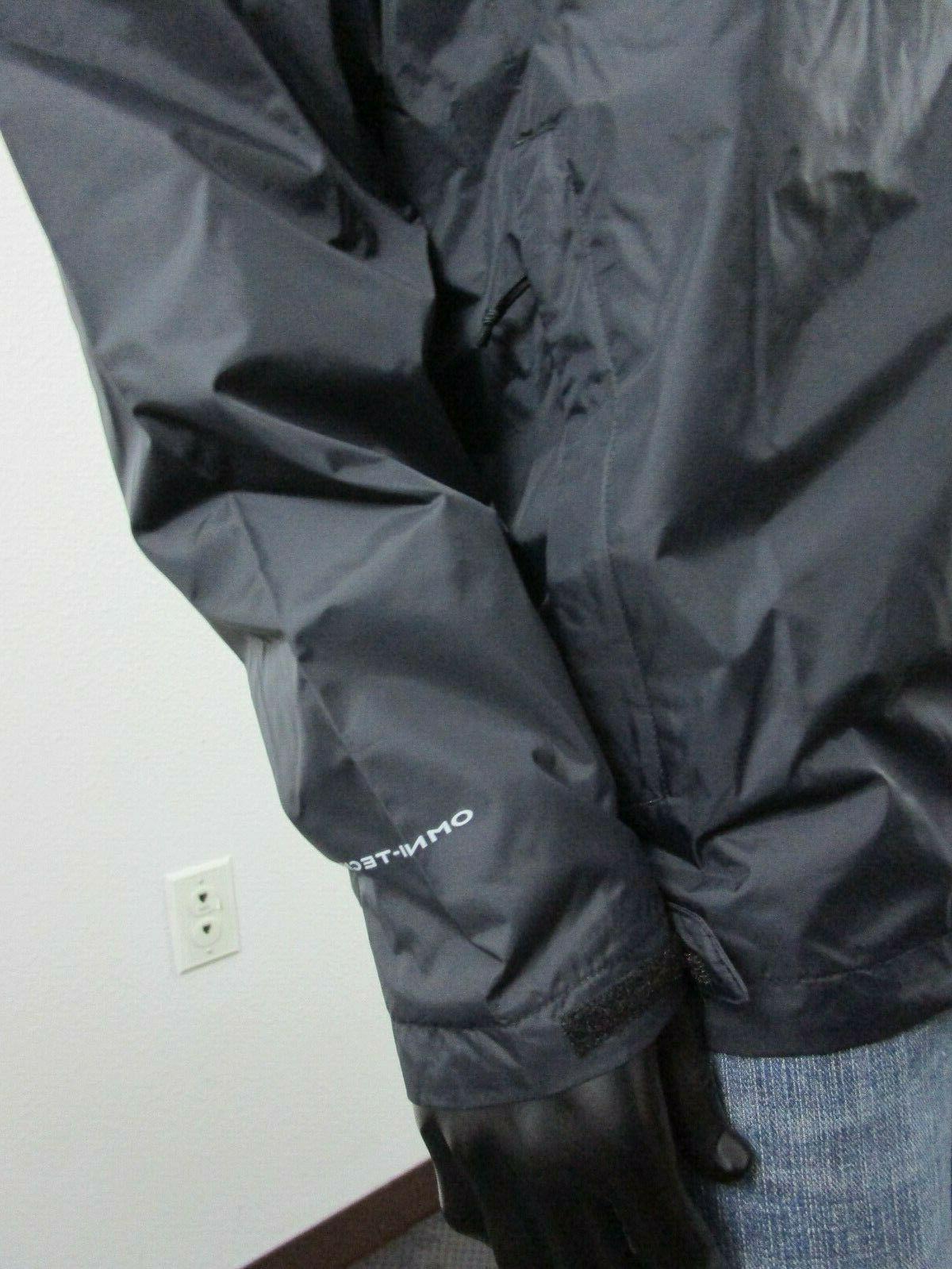 Mens Columbia XS-S-M-L-XL Rain Jacket Black
