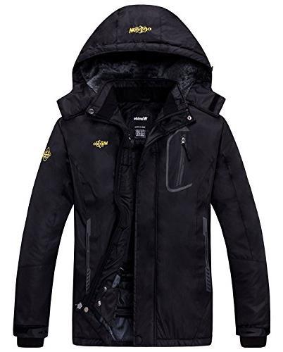 mountain waterproof fleece ski jacket