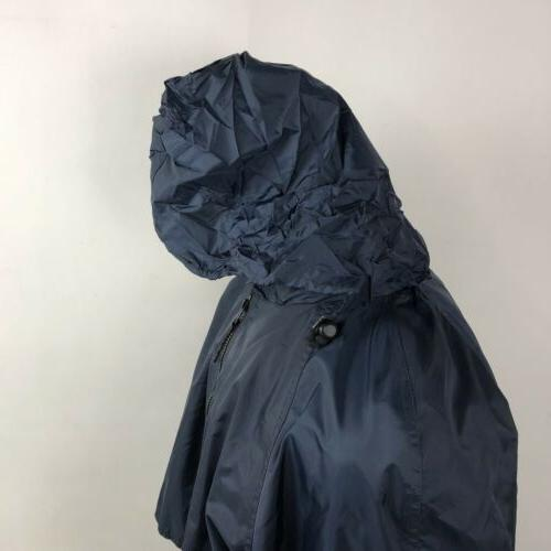 California Navy Hooded Rain Vented Full