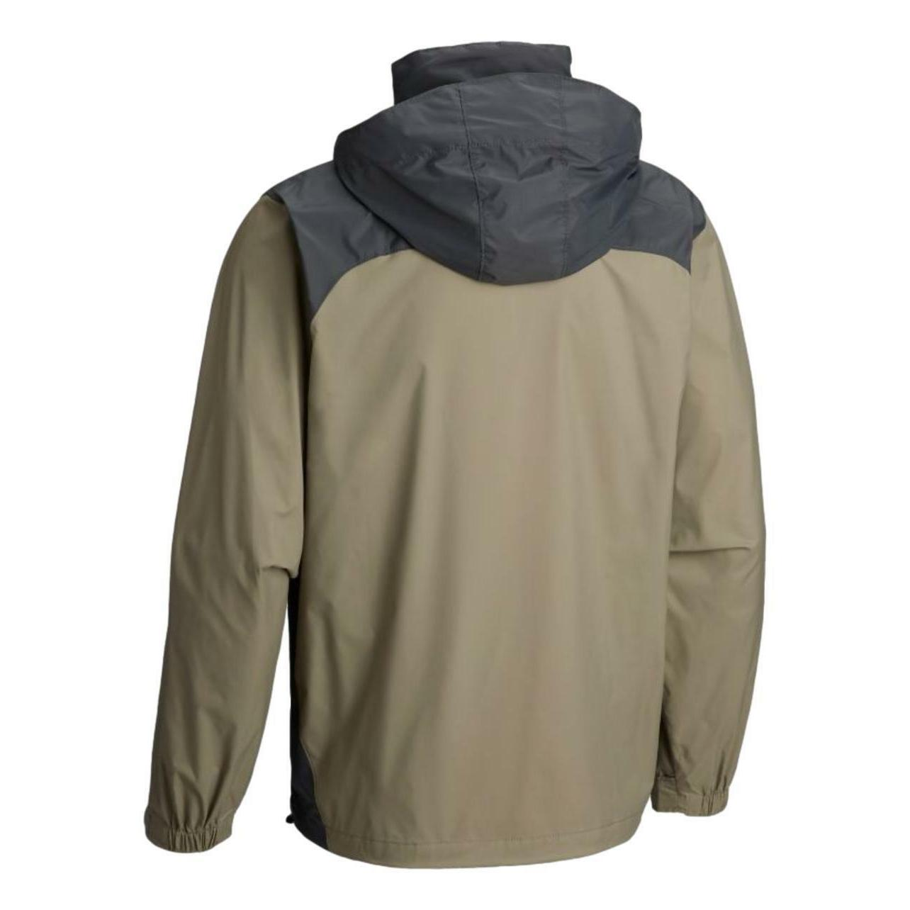 New Columbia mens Raincreek repellent rain coat Tan Gray