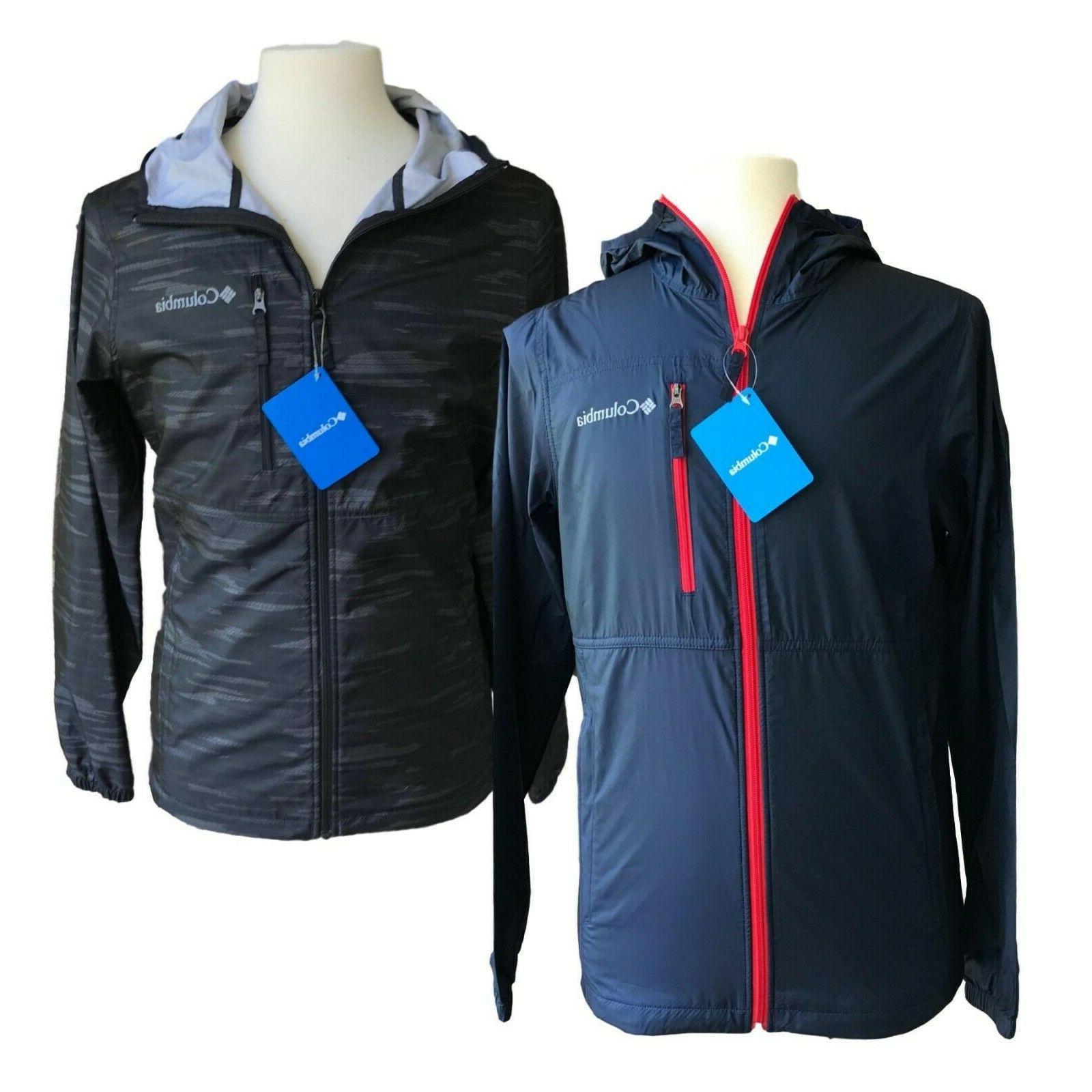 New Columbia mens light rain jacket windreaker