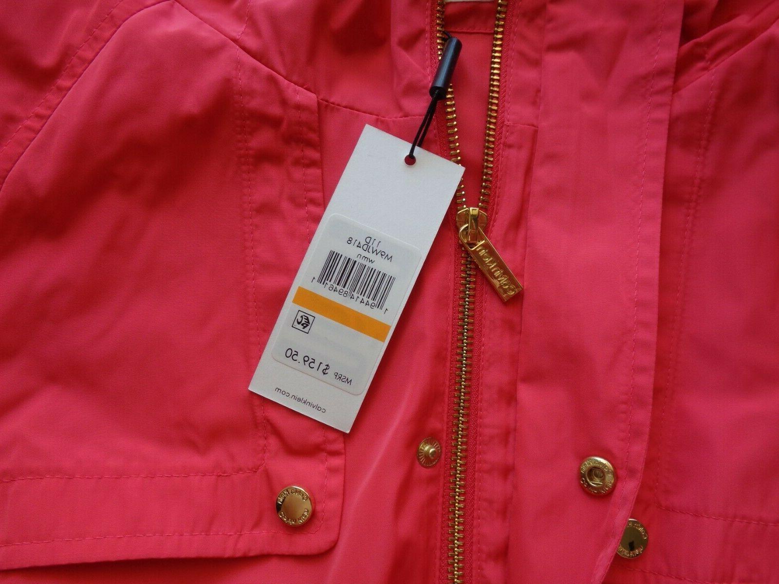 NEW Snap Front Rain Coat Orange