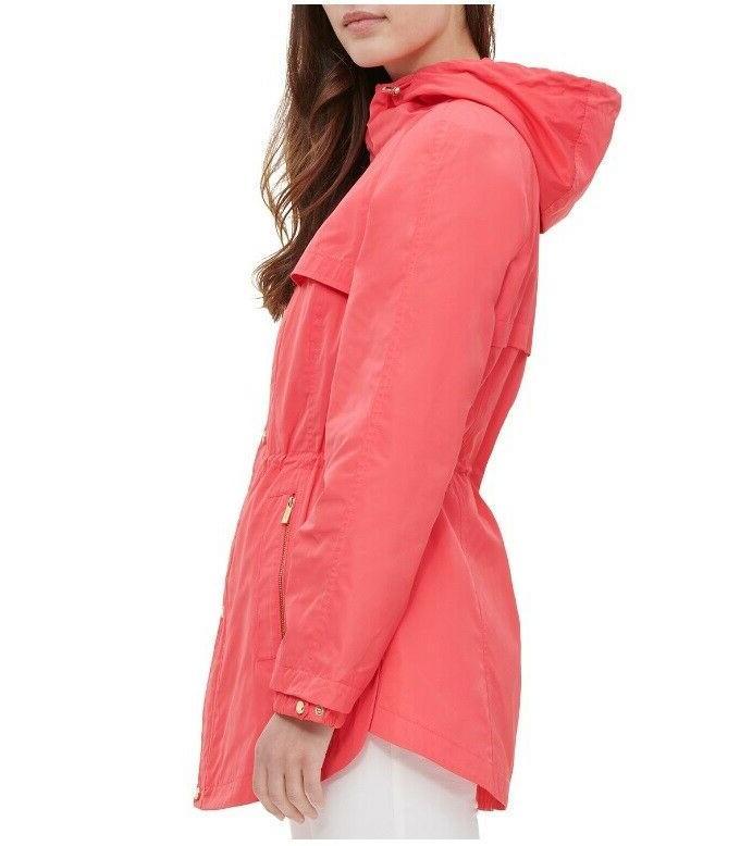 NEW Snap Jacket Rain Coat Orange