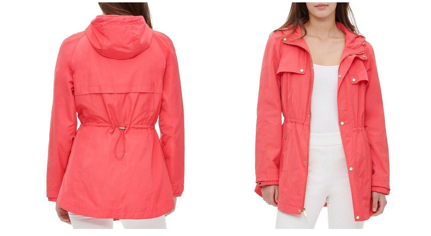 new hooded snap front anorak jacket rain