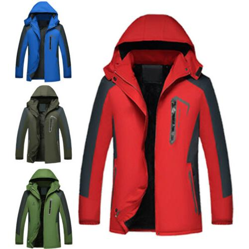 NEW Men's Coats Windproof Waterproof Long Rain Outerwear