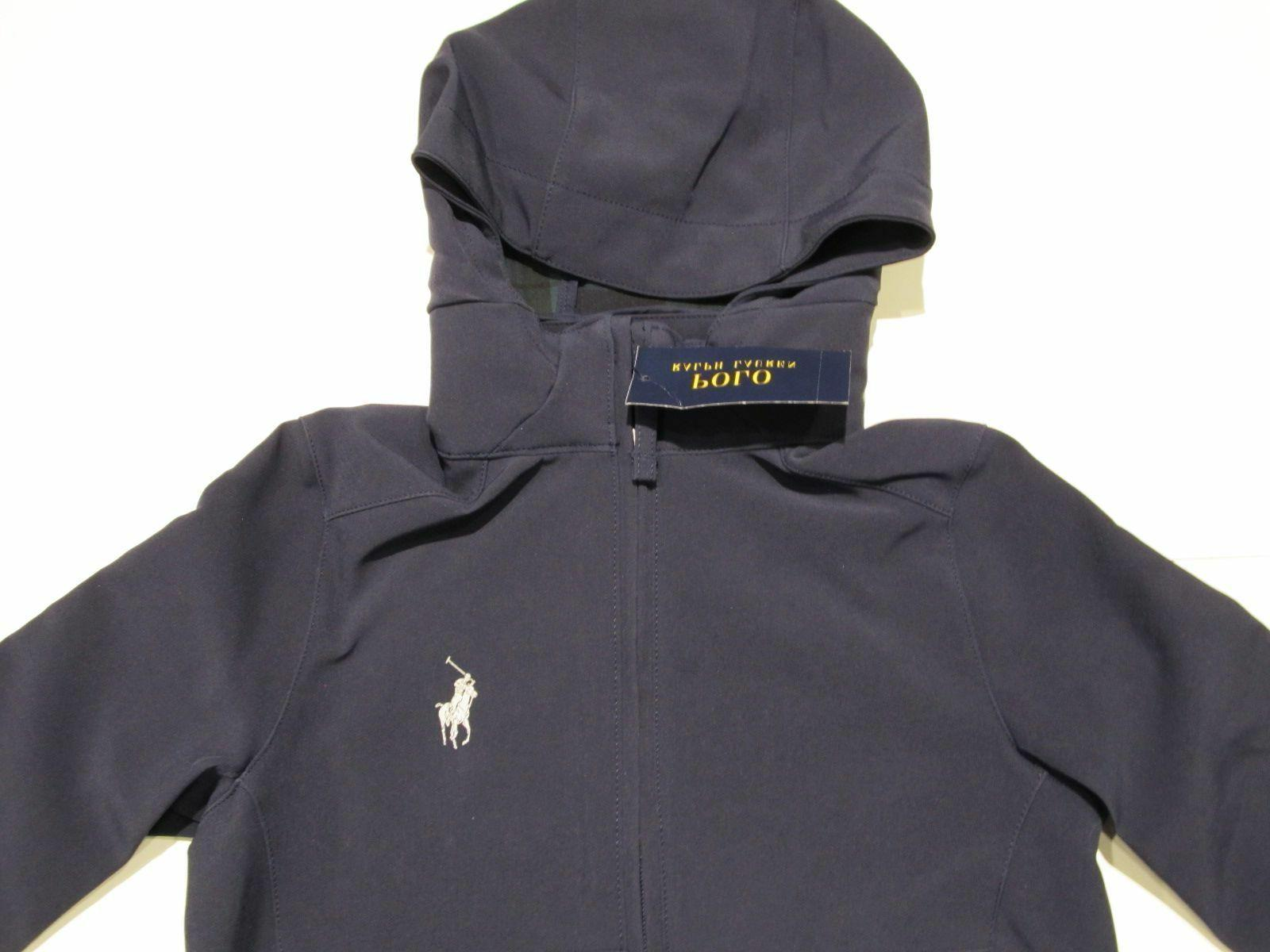 New tag Boys Ralph Lauren Polo Hooded Packable Jacket L