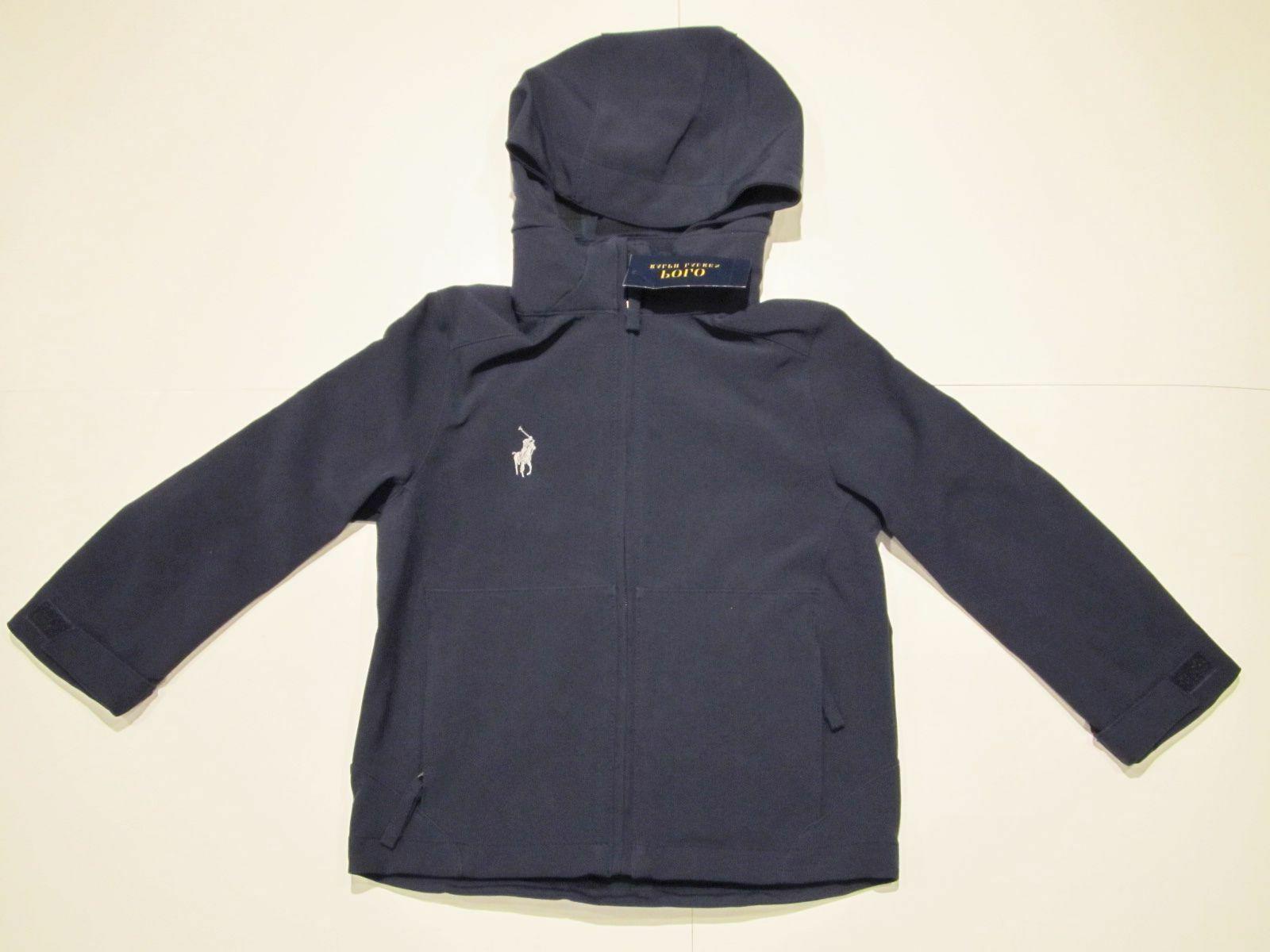 new tag boys polo navy blue hooded