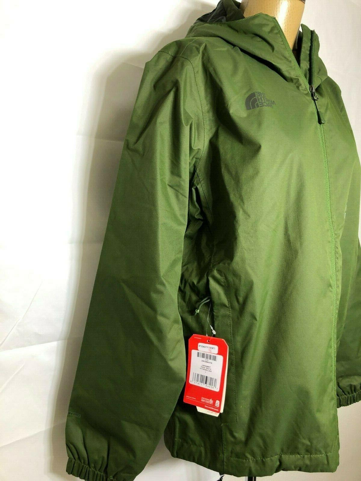 NWT Men's Green Quest Hooded Rain