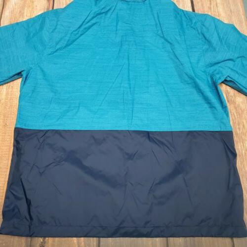 NWT Columbia Mountain Rain Jacket - Blue XL