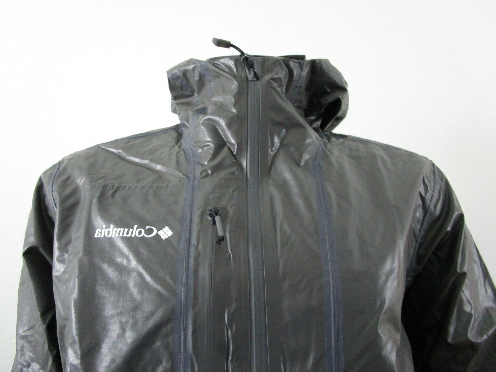 Mens Outdry Hooded Waterproof Rain Jacket -