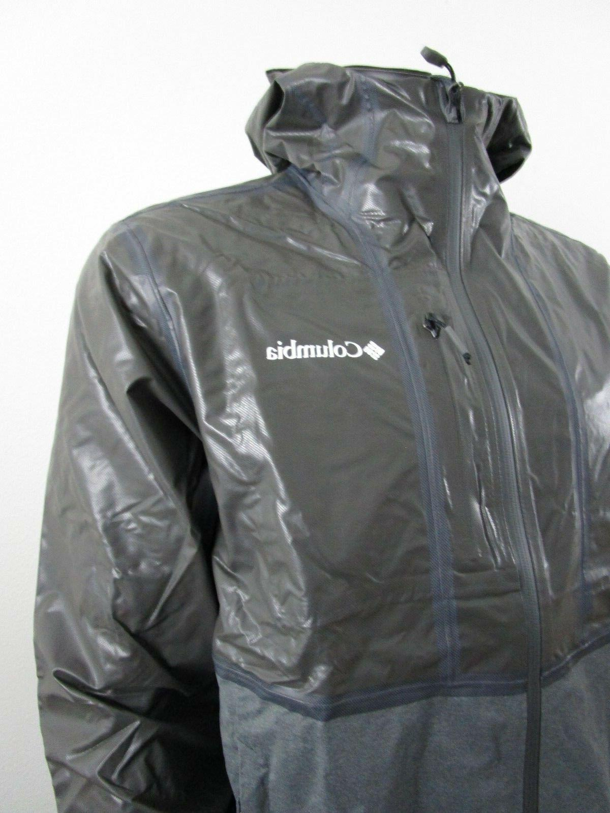 Mens Hooded Hybrid Waterproof Jacket NWT