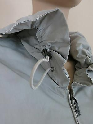 NWT Coat Sleeve Zip Drawstring L