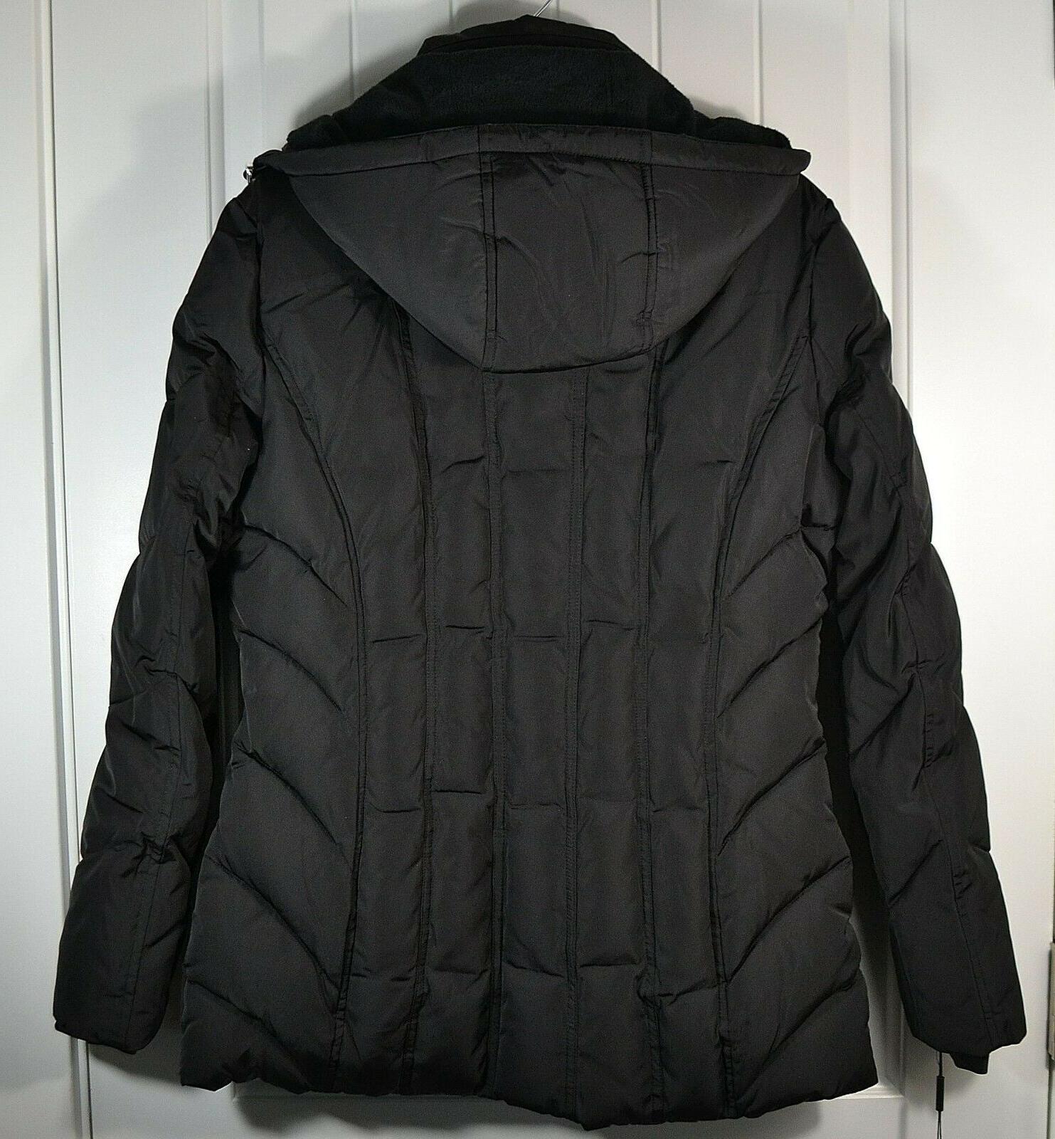 NWT CALVIN BLACK ZIP JACKET COAT SZ CW903582